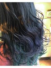 ブルーブラック×グリーン